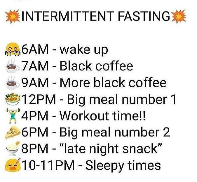 Practical example of fasting