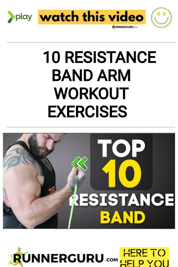 10 Resistance Band Arm Workout Exercises