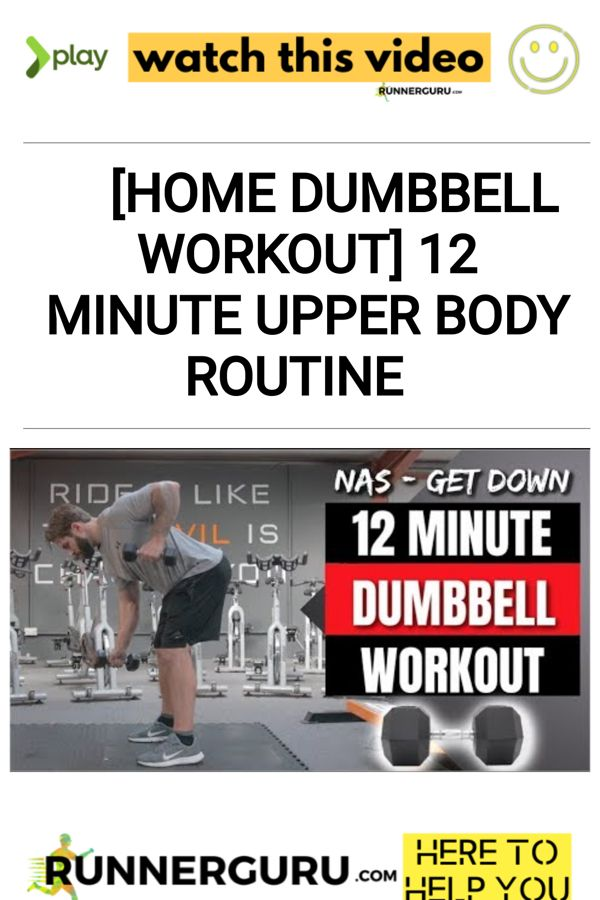 [Home Dumbbell Workout] 12 Minute Upper Body Routine