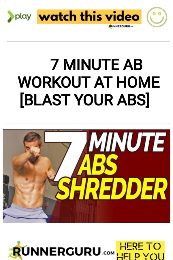 7 Minute Ab Workout at HOME [BLAST YOUR ABS]