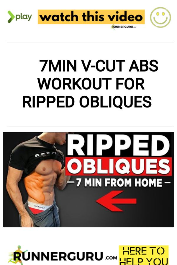 7min V-Cut Abs Workout for Ripped Obliques