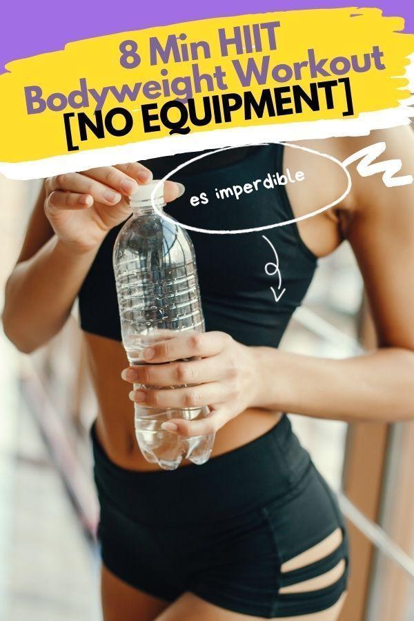 8 Min HIIT Bodyweight Workout [NO EQUIPMENT]